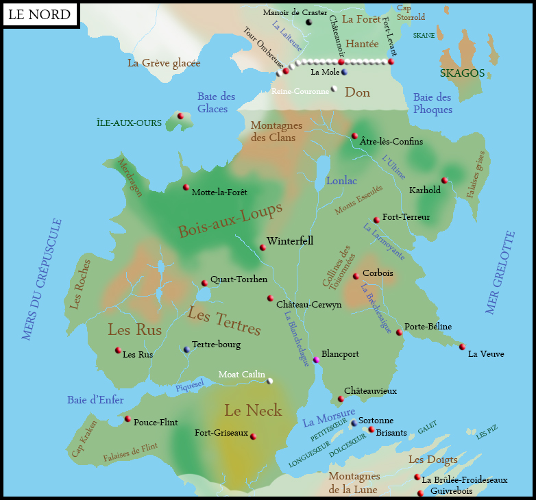 Carte du Nord par Ereksen
